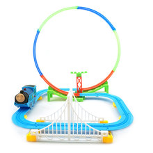 YUSHIXING  Cartoon Car Slot Track Toys with 360 Degree Train Road DIY Electric Educational Musical Kits Toy Gift A333-200