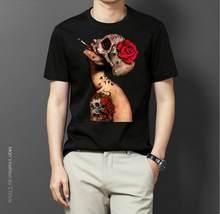 2019 summer casual men T shirt Viva La Muerte T Shirt loose long-sleeved T-shirt female point smiley face O-neck T-shirt(China)
