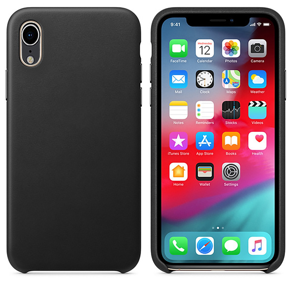 Image 5 - Leather Back Case Luxury Cover  For Apple IPhone XR 6.1inch  Slim & Smooth Phone Case Covers Dropship Nov.24-in Smart Accessories from Consumer Electronics