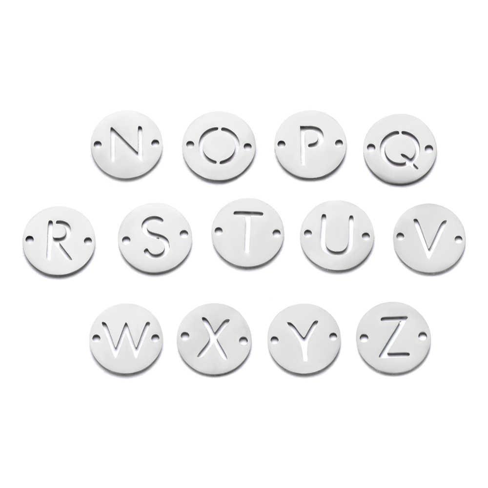 5 יח'\חבילה 100% נירוסטה ראשוני שם קסמי Vnistar DIY אלפבית קסמי 26 מכתב ביצוע קסמי לצמידים סיטונאי