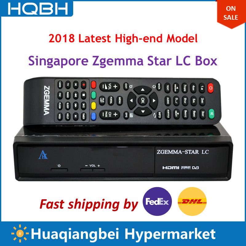 High-end Singapore Starhub Digital Cable TV Box Zgemma Star LC Ultra HD Set Top Box TV Receiver cost effective singapore starhub tv box freesat v7 cable