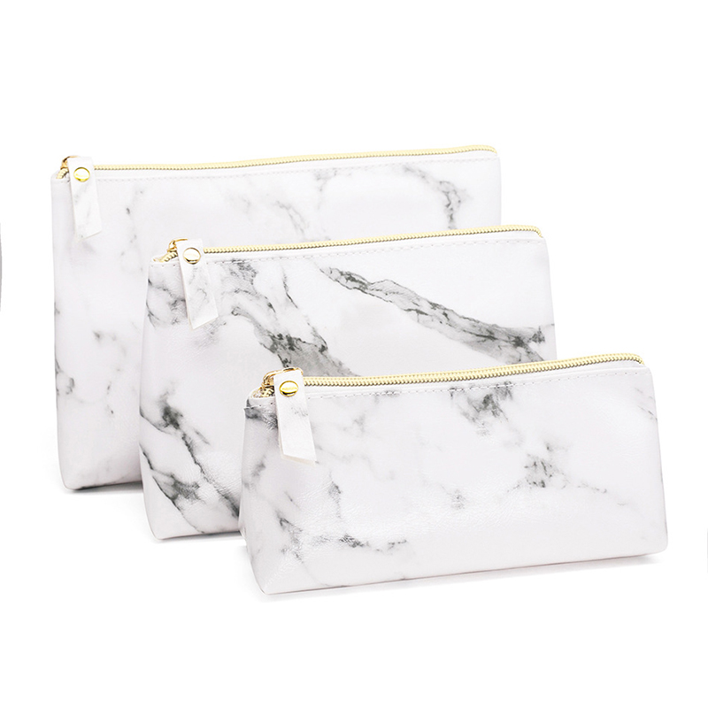 Marble Pencil Case Creative Large Capacity Pencil Bag Kawaii Pencilcase For Girls Gifts School Supplies Stationery Makeup Bags