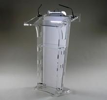 Gorący sprzedawanie Pulpit akrylowy Pulpit akrylowe podium kościelne akrylowa ambona tanie tanio CN (pochodzenie) Meble biurowe 60cm x40cmx120cm acrylic Biurko recepcji Meble komercyjne School Furniture Commercial Furniture