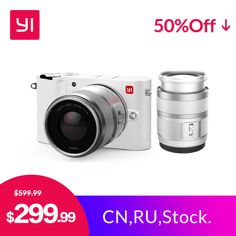 YI M1 Mirrorless Fotocamera Digitale Prime Zoom Due Lenti A CRISTALLI LIQUIDI di trasporto Minimalista Versione Internazionale 20MP Video Recorder 720RGB Digital Cam
