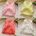 Venda quente Vestido Da Menina Do Bebê Vestidos de manga Longa Meninas Rendas flor Vestido Da Menina de Moda Infantil Roupas de Outono vestidos infantis