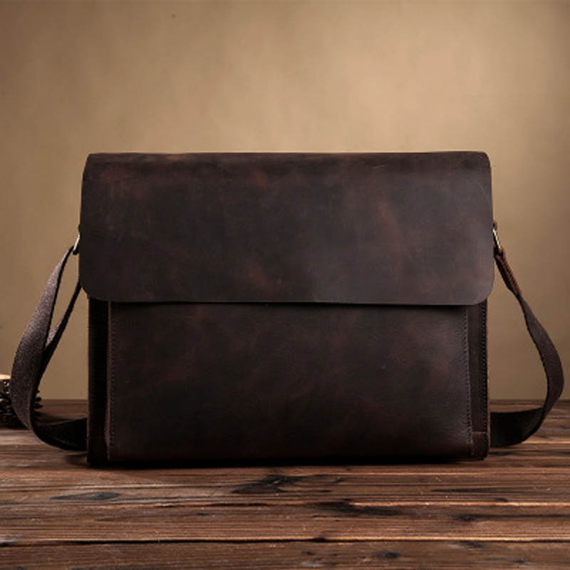 YISHEN Crazy Horse Genuine Leather Men Business Briefcase Vintage Casual Crossbody Bags Messenger Bags Men Laptop Case LS0176 vintage brown 100% crazy horse leather men messenger bags laptop cowhide leather men s briefcase portfolio travel bags md j7028