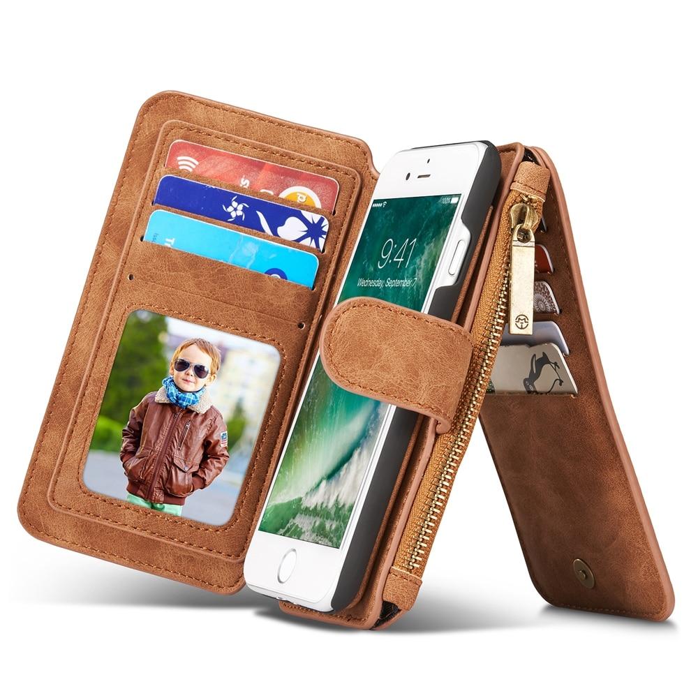 bilder für CaseMe Ledertasche Für Coque iPhone 7 Fall Abdeckung Flip Brieftasche reißverschluss Kartenhalter Für iphone7 Fall für iPhone 7 Plus Capinha Etui