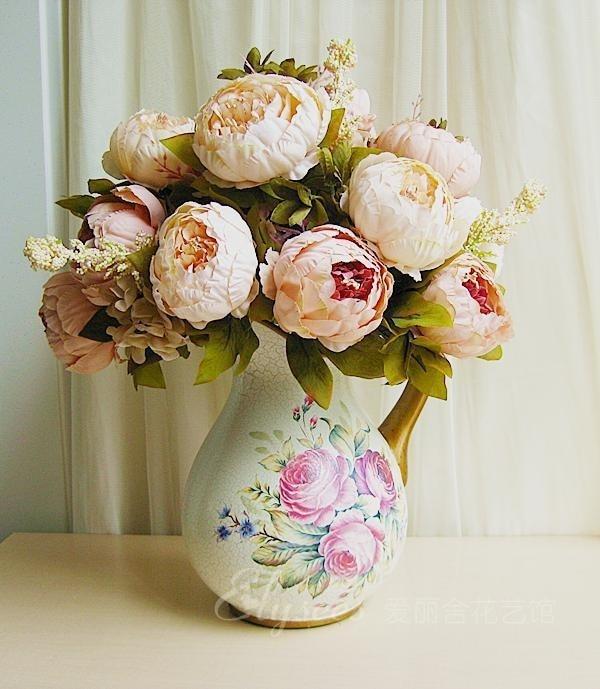 Искусственные цветы шелк купить