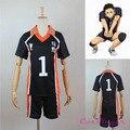 Newest Karasuno High School Volleyball Club Sports T shirt Haikyuu Costume No.1 Sawamura Daichi Jerseys