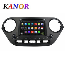 KANOR 1024*600 quad core android 5.11 CAR DVD GPS for HYUNDAI I10 2014 2015 with radio stereo car pc central multimedia system