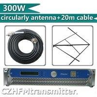 FMUSER 300 Вт 350 Вт fm передатчик трансляции круговой polarlized антенной и 20 метров кабеля комплект