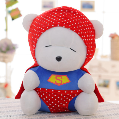 font b cute b font superman suits design bear doll plush toy large 55cm throw