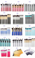 15 colores pro Kabuki Powder Foundation maquillaje Herramientas de brocha 10 unids/set Profesional Cosméticos Maquillaje Pinceles set & kit para mujeres