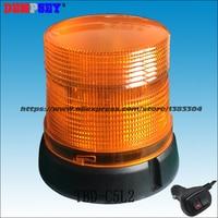 Dempsey Magnetic Mount LED 12v/24v Strobe Beacon Car Warning Amber Flashing Light,Beacon Emergency Warning Strobe ligh(TBD C5L2)
