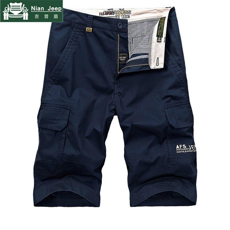 2020 Brand Shorts Men Cargo Shorts Masculino Summer Boardshorts Cotton Multi-Pockets Army Bermudas Masculina De Marca Homme