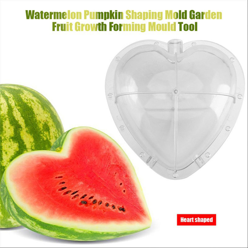 1pc Large Size Plastic Clear Heart Square Watermelon Growing Mold Transparent Fruit Growth Forming Shaping Mould Garden Supplier Pleasant In After-Taste Tools