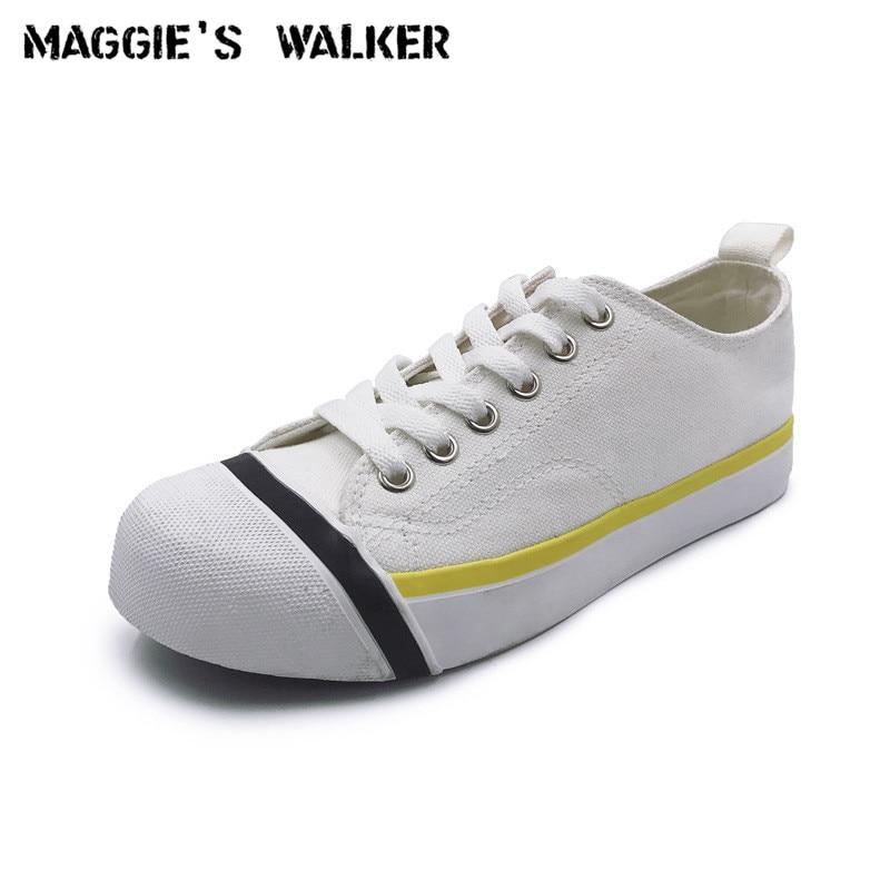f254b34b713be9 Mode Femmes Nouveau Toile Casual Blanc 35 Style Preppy 40 Walker noir De  Chaussures Maggie ~ Laçage forme Taille Plate wxYFqnSfn