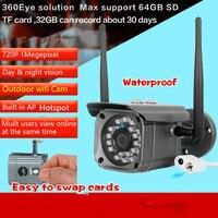 Ap Wifi Wireless 720P Outdoor Video Recorder IP HD 2 0MP Camera TF Card Slot Loop
