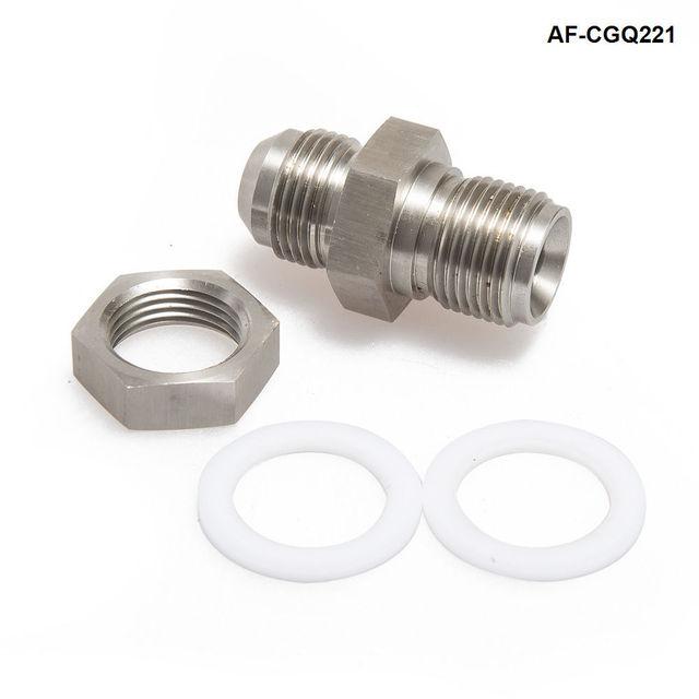Adaptador Universal de tapón de drenaje de retorno de aceite de acero Turbo para coche adaptador de tapón AN10 Weldable AF-CGQ221