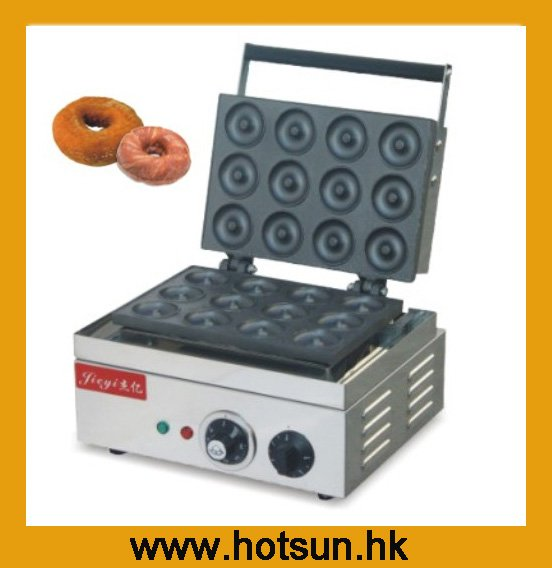 Stainless Steel 110V 220V Commercial Non-stick Electric Donut Maker Iron Machine