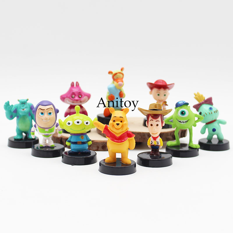 Toy Story 3 Buzz Lightyear Woody Mini PVC Figure Child Toys Gifts 10pcs/set PVC Action Figure Collectible Model Toy 5-7cm KT3093 hot new 1pcs 18cm toy story 3 woody action figures pvc action figure model toys christmas gift toy