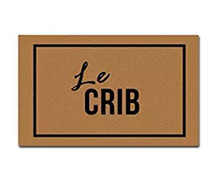 Le Crib Welcome Doormat Non-Slip Machine Washable Outdoor Indoor Entrance Decor Rug Mat