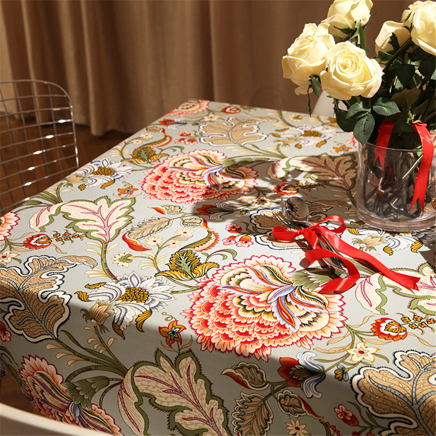 Image 2 - pastoral style woven floral print tablecloth home decor dining table cloth rectangular linen nappe waterproof table cover-in Tablecloths from Home & Garden on AliExpress