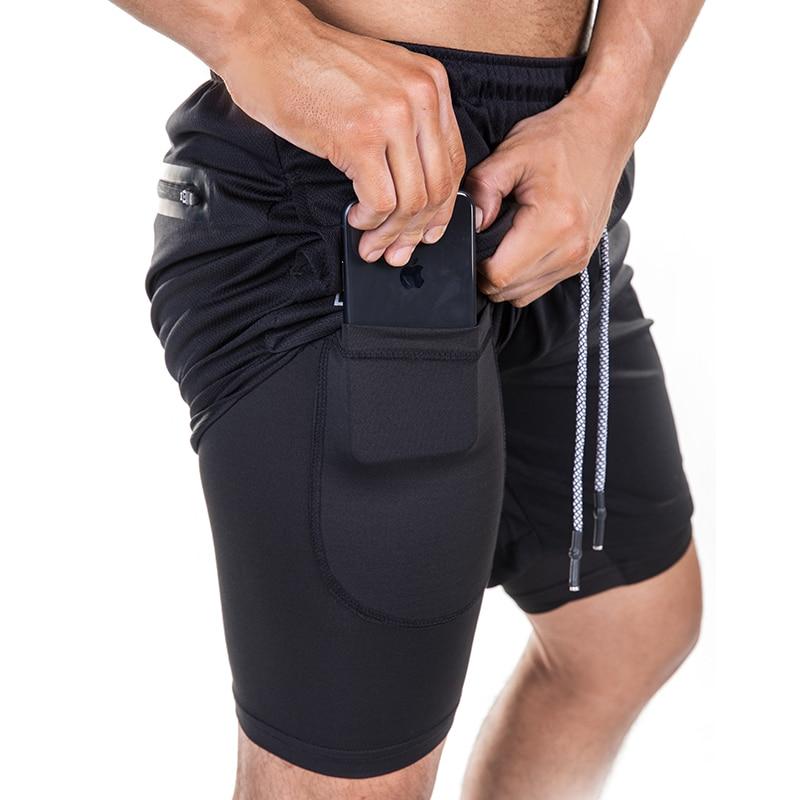 FRMARO  A New Men Summer Slim Shorts Gyms Fitness Bodybuilding Running Male Shorts Knee Length Breathable Shorts Mesh Sportswear