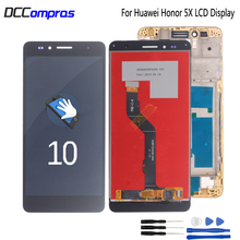 купить For Huawei Honor 5X LCD Display Touch Screen 100% New Digitizer Assembly Replacement For Huawei GR5 5.5 inches KIW-L21 ScreenLCD дешево