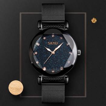 цена SKMEI 9188 Fashion Women Quart Watch Luxury Starry Dial Women's Watches Ladies Dress Wristwatch Waterproof Bracelet  Top Brand онлайн в 2017 году