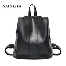 mochila feminina backpack women 2017 New Fashion Lady Leather Sheepskin Leisure Bag Travel Bag Side Zipper Anti-theft Backpack16