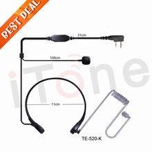 Throat Mic PTT Earpiece Walkie Talkie Headset Headphone For Motorola GP2100 GP300 GP308 GP68 GP88 GP88S Two Way Radio Throat Mic