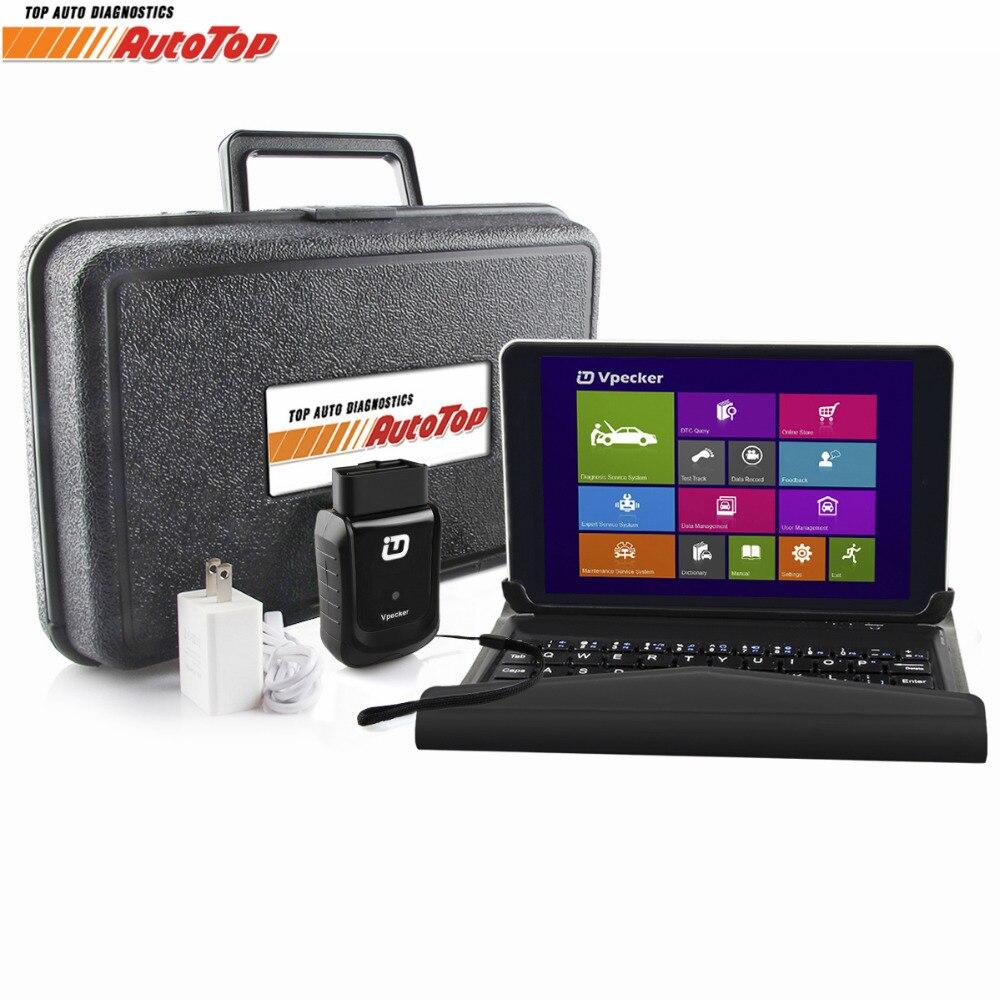 V10.4 Vpecker Easydiag OBD2 Automotive Scanner WIFI Scanner + 8 in Windows 10 Tablet ODB 2 OBD Car Diagnostic Tool Auto Scanner