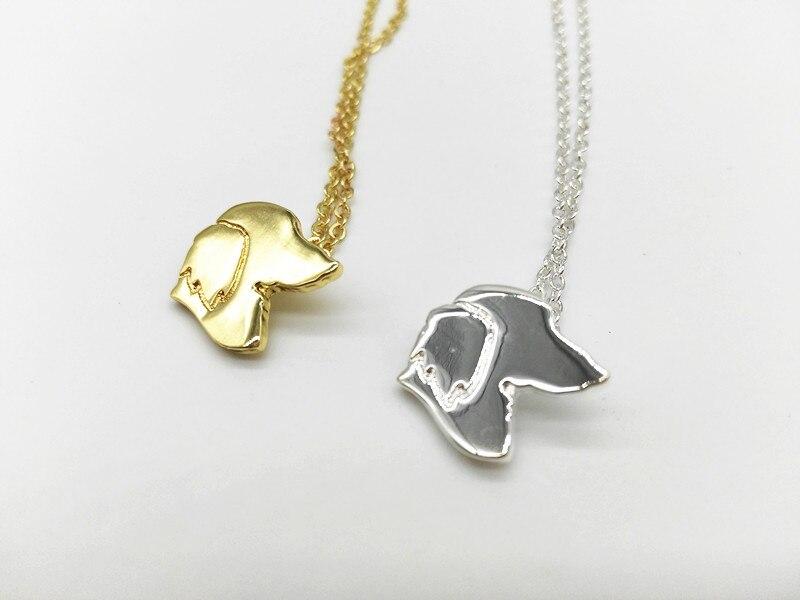 10 pcs Prata Dachshund charme Colar Gargantilha de Ouro Colar de jóias  Mulheres memorial para animais de estimação cão de presente da jóia e977870a29