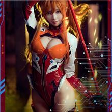 Asuka EVA Аниме Косплей Asuka Косплей Костюм фигура ver Косплей Хэллоуин Сексуальные костюмы для женщин подарок
