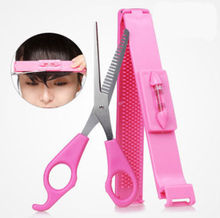 1set Bangs Scissors hairdressing haircutting shears scissors hair cutting scissors with ruler tesoura de picotar