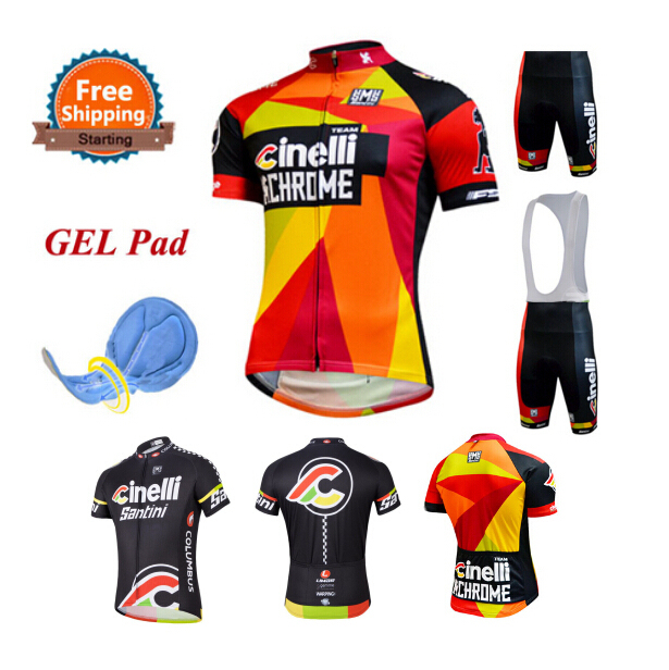 2015 Team Cinelli Cycling Jersey Bicicleta Maillot Ciclismo Mens Cycling  Clothing Kit Road Bike Clothes GEL Pad Bib Shorts Mtb 51c38d3fd