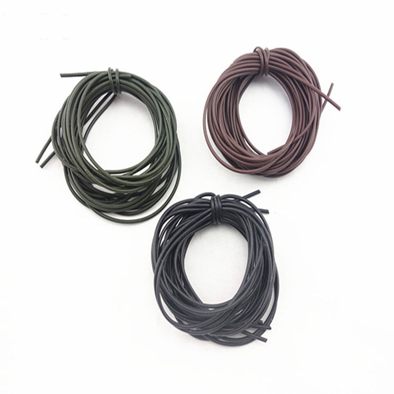 [4m/pack] Carp Fishing Silicone tubing Black Olive Brown Color Vacuum Tube Pipe Hose ...