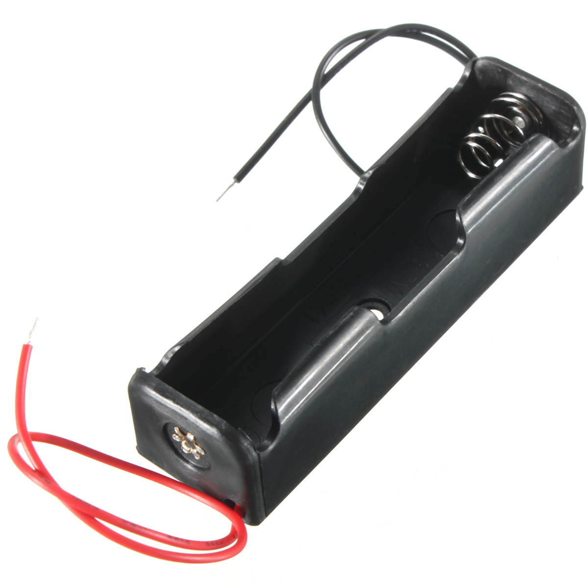 5pcs/lot 3.7V 18650 Battery Clip Holder Box Case Black With 4 Wire Lea