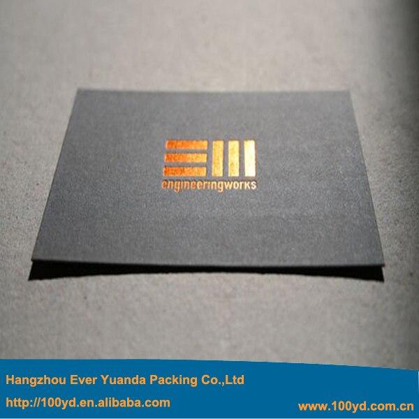 600gsm Schwarz Karton Papier Visitenkarte Benutzerdefinierte