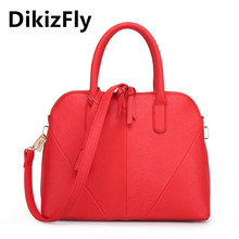 DikizFly!New arrival PU leather handbags fashion shoulder bag Shell totes Vintage cross body bags brand women messenger bags