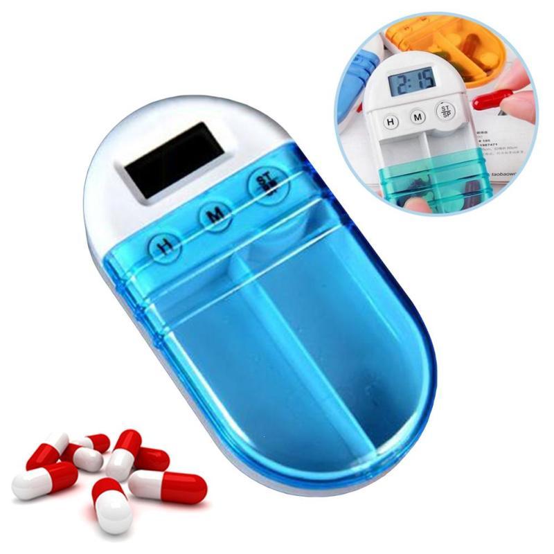 Портативный путешествия 7 дней цифровой сигнализации Медицина Box Планшеты pill случае Спецодежда медицинская комплект таймер напоминание ле... ...