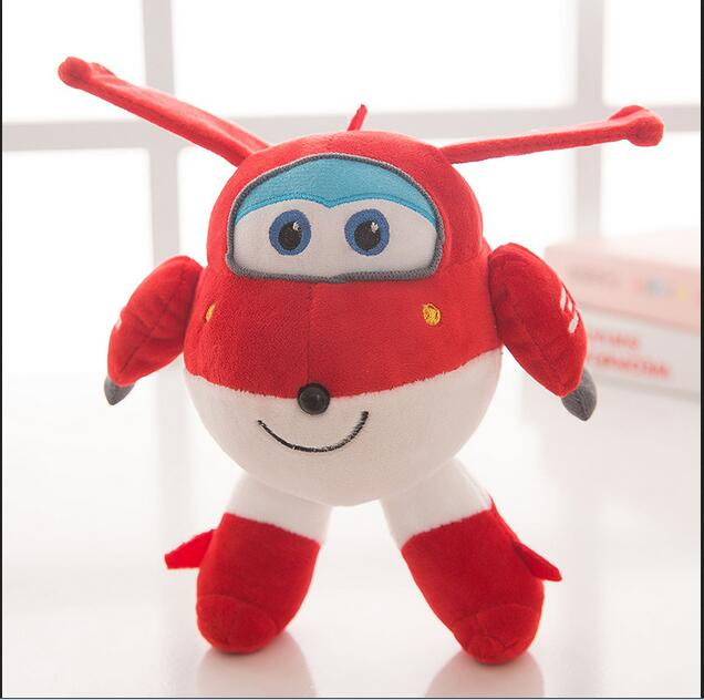20cm Super Wings Jett Plush Toys Cute Super Wings Pesawat Robot Stuffed Plush Toys Soft Toy Gift for Kids Kanak-kanak