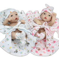 27cm Soft Silicone Reborn Baby Doll Appease Lifelike Babies Realistic Reborn Doll play toy for Children Christmas Birthday Gift