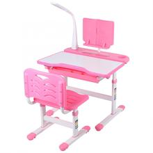 Desk-And-Chair-Set Ergonomic Pink Reading-Stand Adjustable Children's Eye-Protection-Lamp