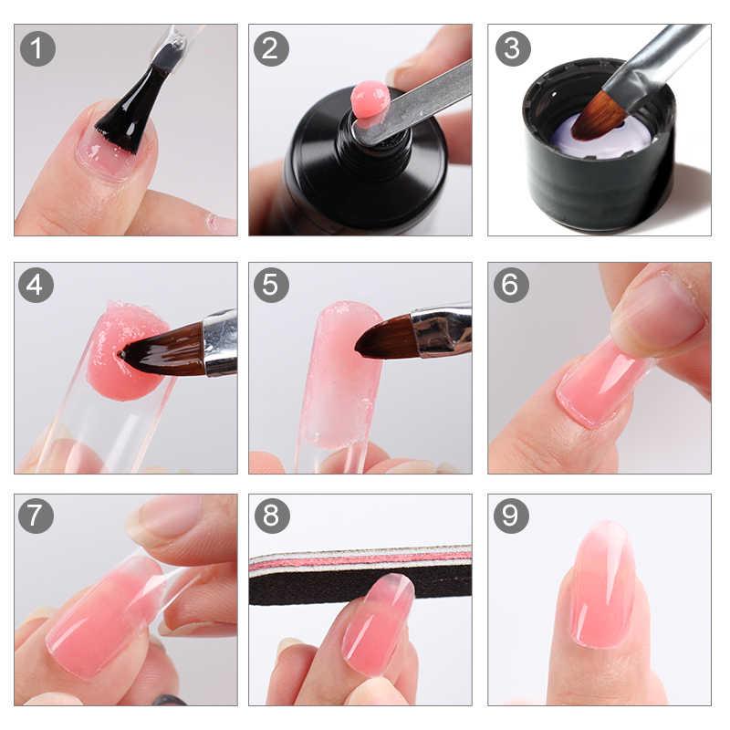 ROSALIND 30 мл гель для наращивания ногтей белая бутылка замочить от строителя поли гель Гибридный гвоздь искусство верхнее покрытие УФ светодиодный Гель-лак для ногтей