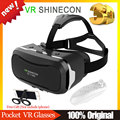 VR SHINECON 2.0 Head Mount Plastic Version Virtual Reality 3D Glasses VR Glasses Google Cardboard + Wireless Remote Gamepad