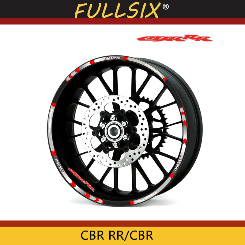 Hot Sell High Quality Motorcycle Wheel Sticker Decal Reflective Rim Bike Suitable For Honda CBR RR CBR CBR1000 600RR 650R 300R