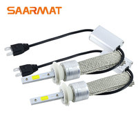 2 x Auto Headlight Bulb H7 LED Tailor-made High Power 96W 9600lm White 6000K Bright Car Head Fog DRL Light Kit