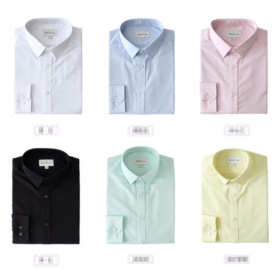 29.1 Men fashion Cufflinks Shirt New Men\'s Shirt Long Sleeve Casual Male custom Shirts Slim Fit Dress Shirts For Men